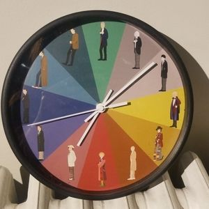 Doctor Who Rainbow Wallclock Redbubble Fanart